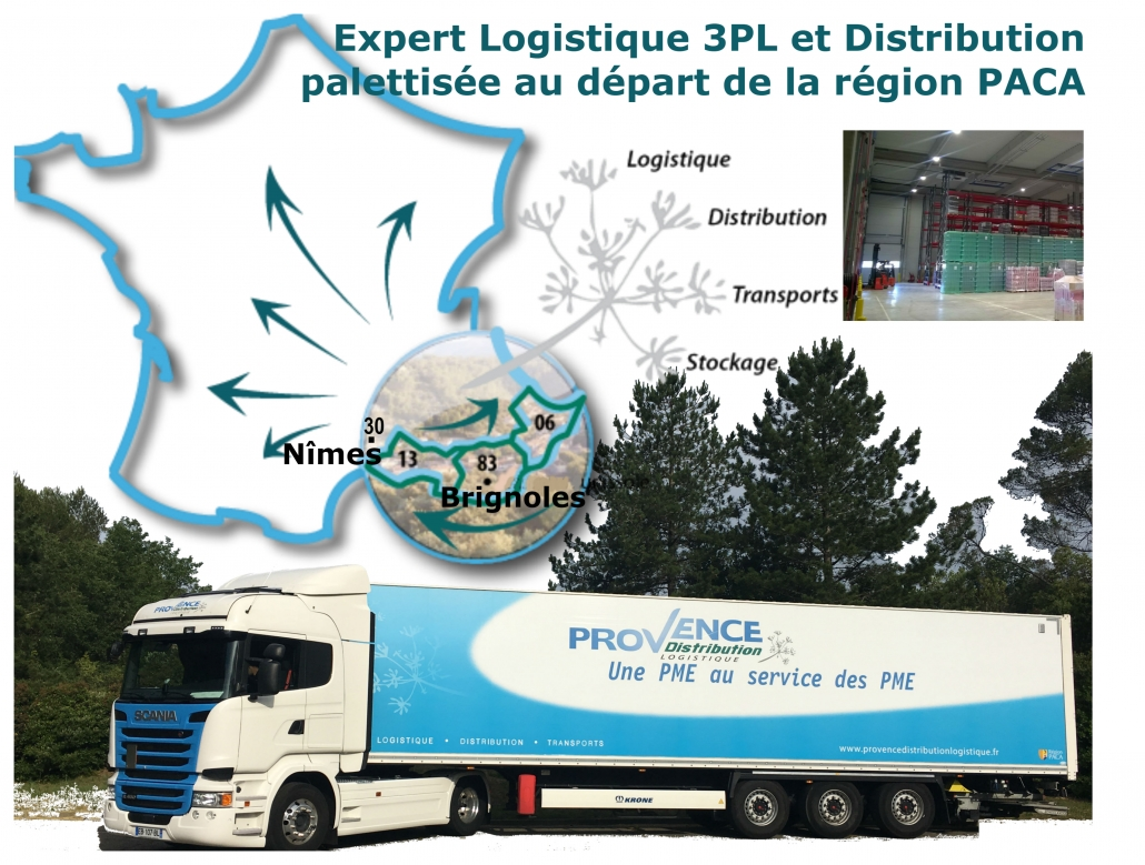 Carte implantation Provence Distribution Logistique