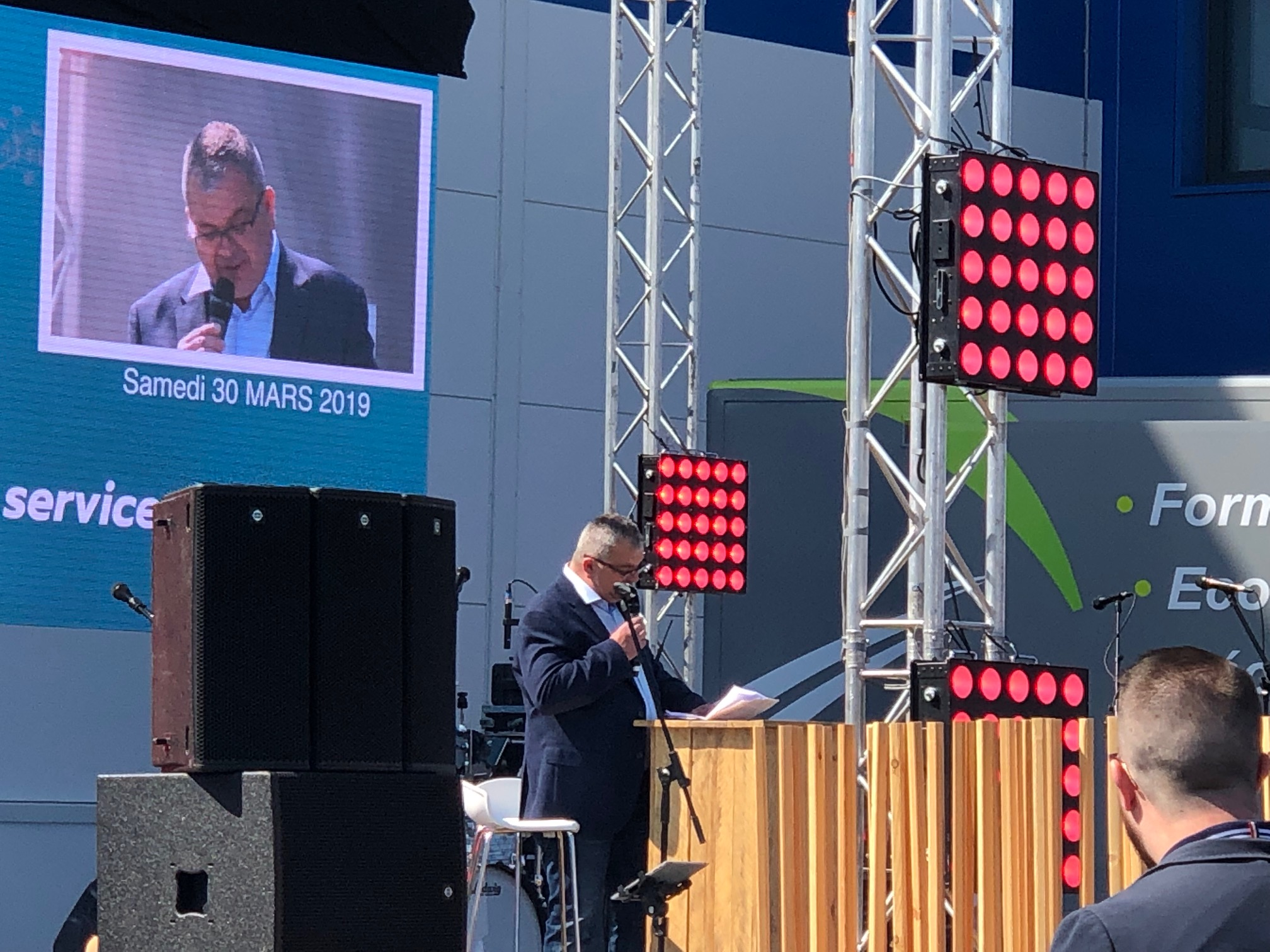 Provence Distribution Logistique discours d'Olivier Riandée pour anniversaire 10 ans