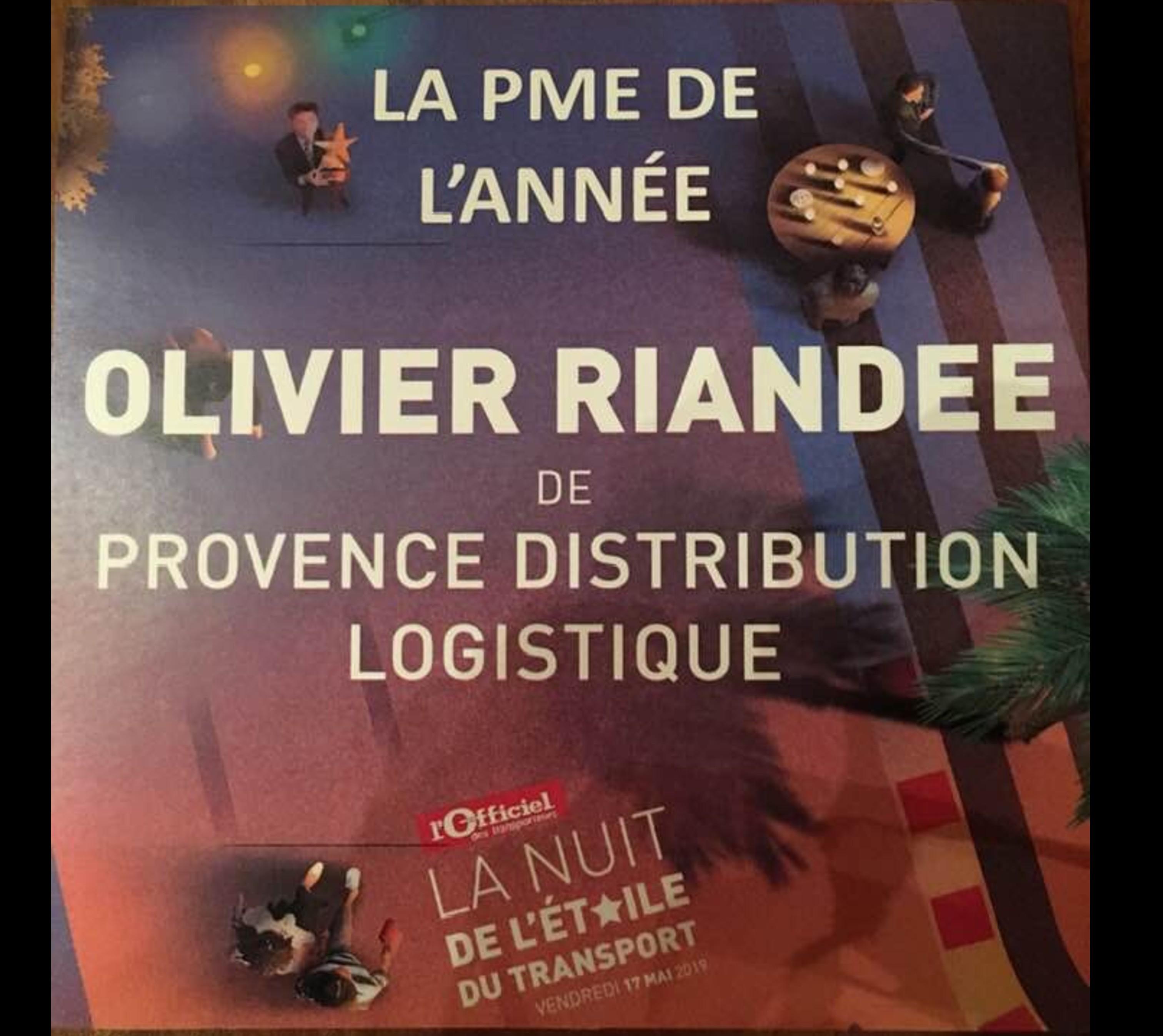 Olivier RIANDEE de Provence Distribution Logistique récompensée de l'Etoile de la PME de l'Année 2019