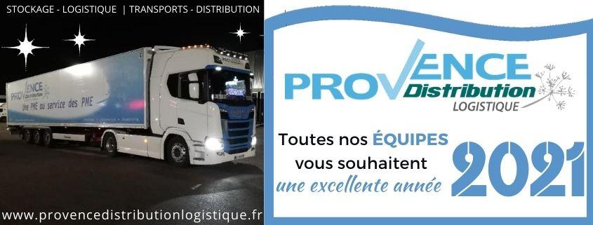 Provence Distribution Logistique vous souhaite une excellente année 2021
